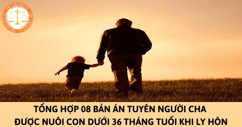 Tổng hợp 08 bản án tuyên người cha được nuôi con dưới 36 tháng tuổi khi ly hôn