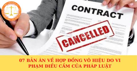 07 bản án về hợp đồng vô hiệu do vi phạm điều cấm của pháp luật