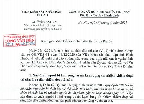 VKSNDTC giải đáp vướng mắc trong giải quyết vụ án hình sự