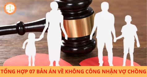 Tổng hợp 07 bản án về không công nhận vợ chồng