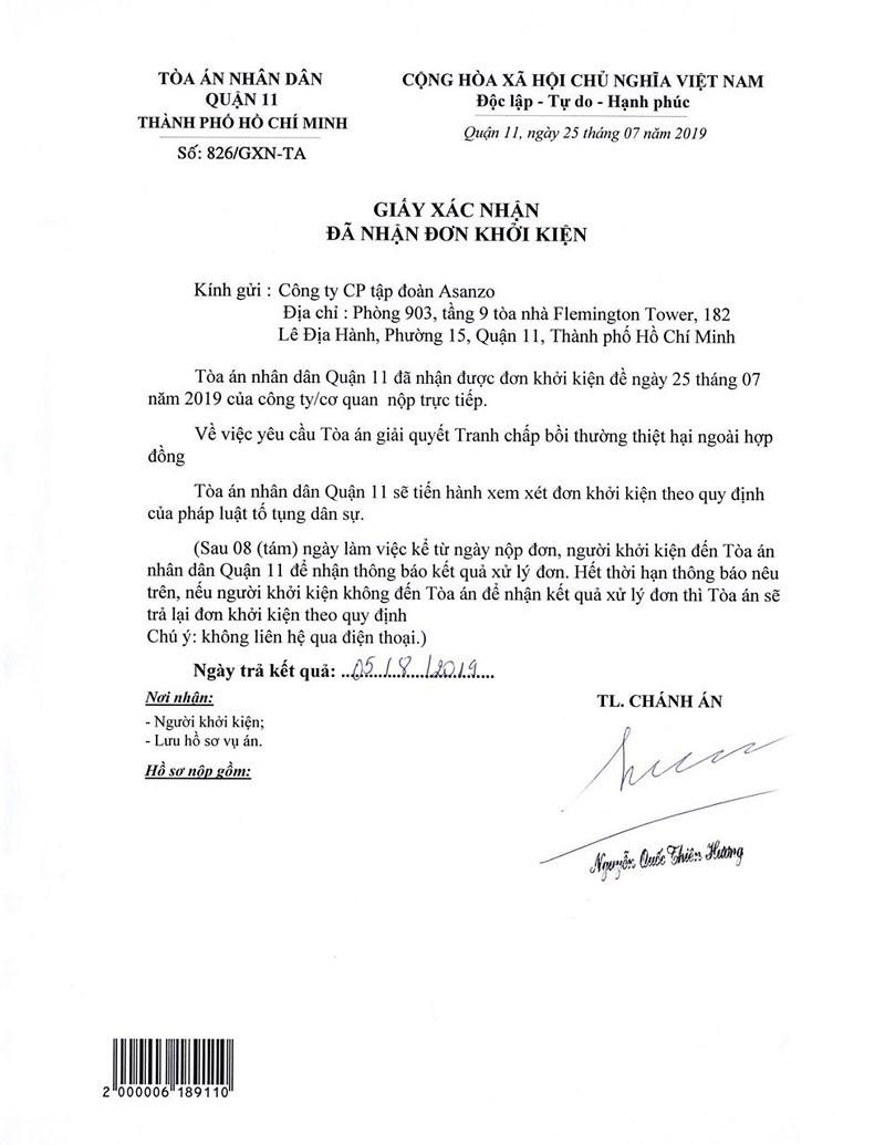 Asanzo khởi kiện báo Tuổi Trẻ ra tòa, yêu cầu bồi thường