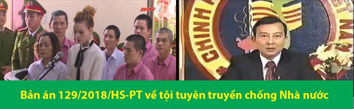Bản án 129/2018/HS-PT ngày 18/04/2018 về tội tuyên truyền chống Nhà nước Cộng hòa xã hội chủ nghĩa Việt Nam